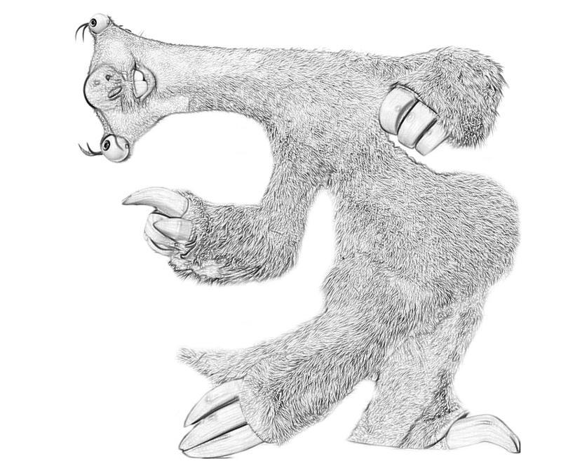 Sid ice age drawing