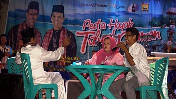 Sosialisasi Pilgub Sumbar Disuguhi Teatrikal Oceh Palanta Oleh KPU Kota Pariaman