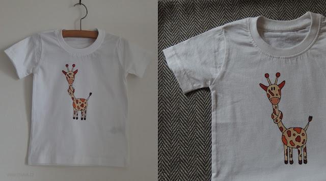 tričko s žirafou