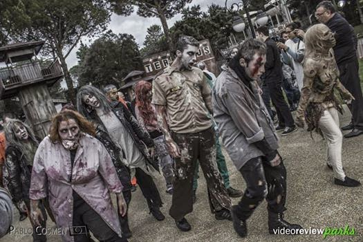 Parque de atracciones de madrid atraccion walking dead halloween