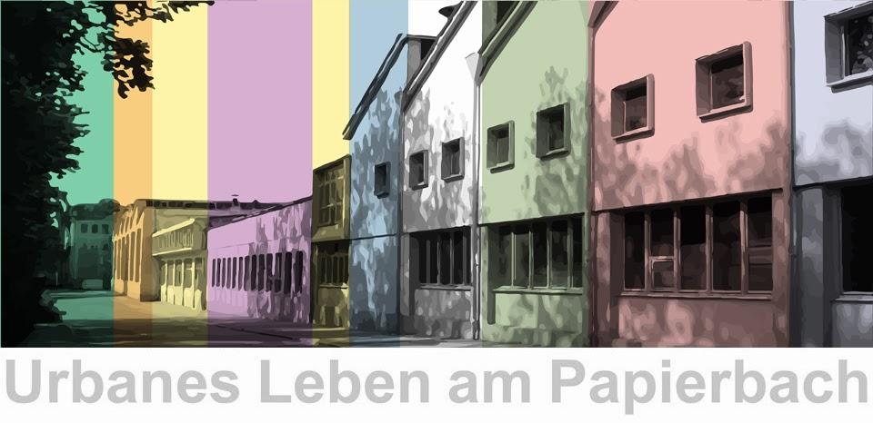 Urbanes Leben am Papierbach