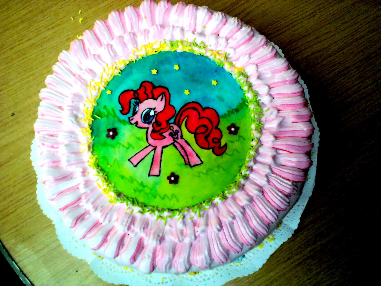 Torta De My Little Pony Pinkie Pie Torta Con Placa