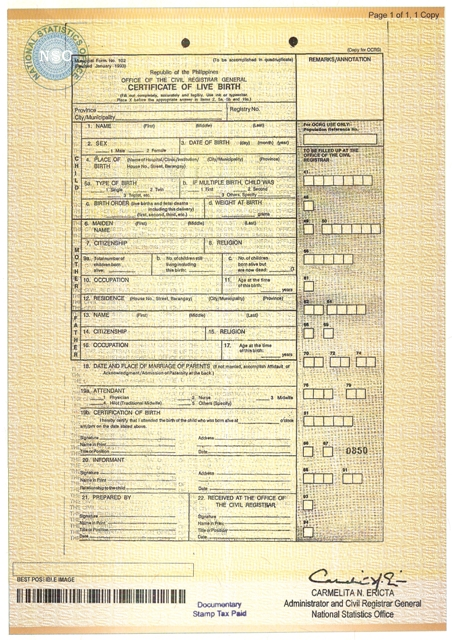 Hong kong birth certificate sample images certificate design and nso documents only just a call and click away with teleserv for sample nso birth certificate yelopaper Choice Image