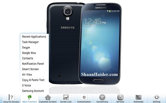 Samsung GALAXY S4 Simulator