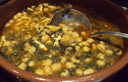 Dame tu receta potaje de garbanzos con bacalao - Potaje con bacalao y espinacas ...