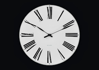 ROMAN WALL CLOCK ARNE JACOBSEN