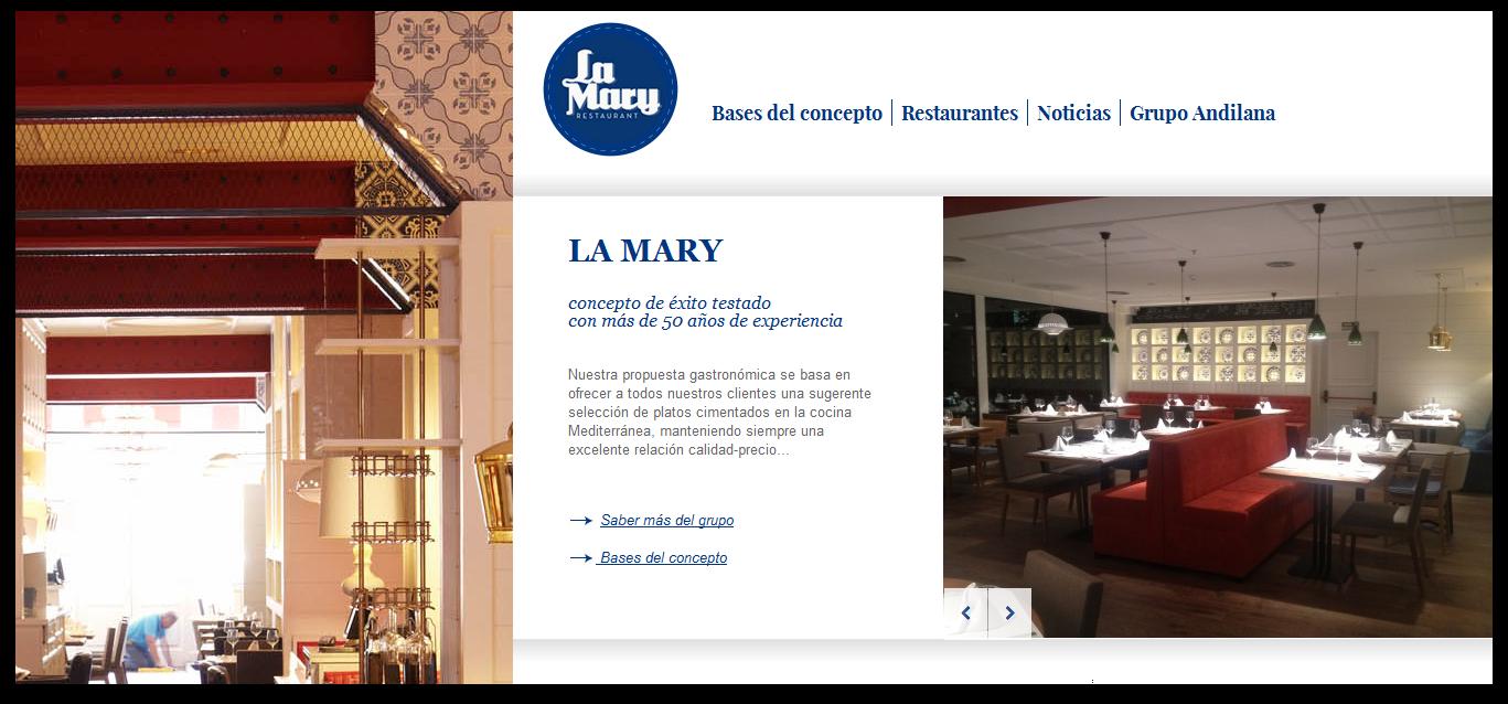 La Mary restaurante franquicia - Valencia página web