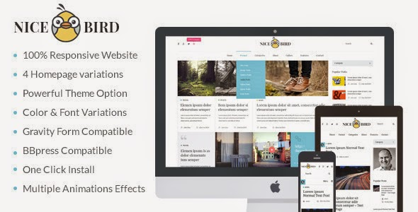 Blog and Newspaper WordPress Theme