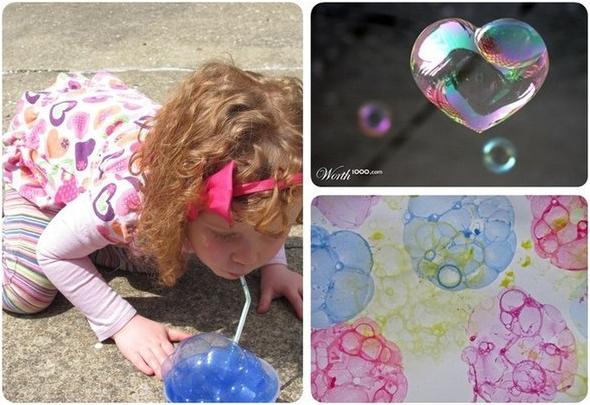 Как на бумаге сделать мыльные пузыри в