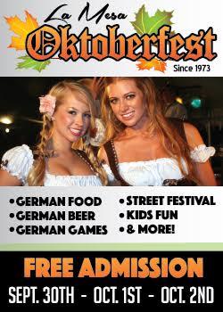La Mesa Oktoberfest - September 30-October 2