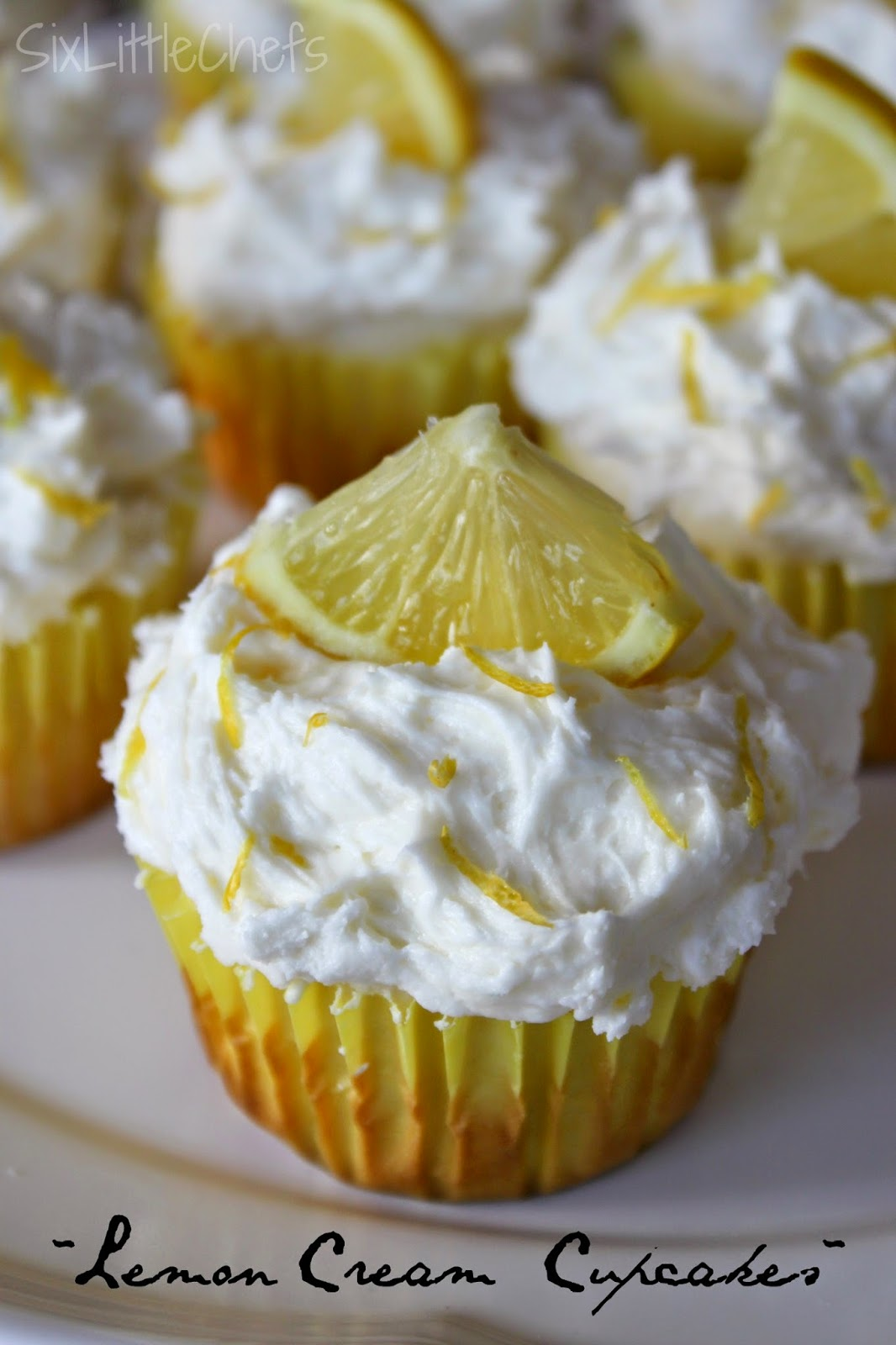 Six Little Chefs: Lemon Cream Cupcakes