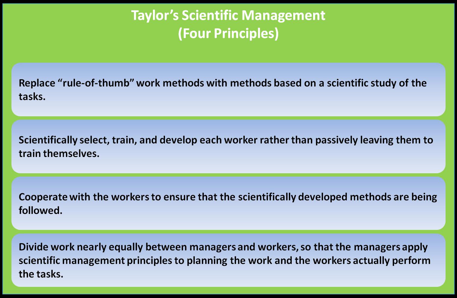 scientific management theory essays