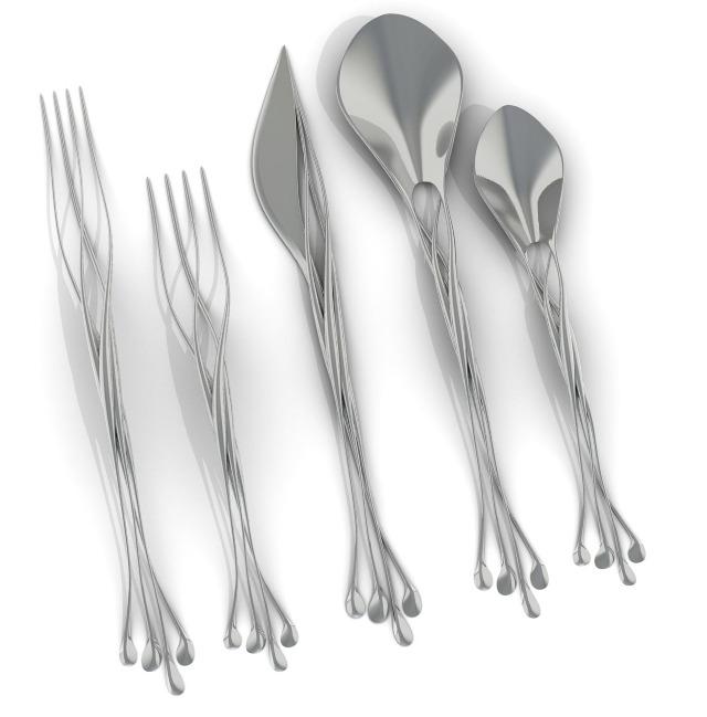 Far from equilibrium twist flatware - Twisted silverware ...
