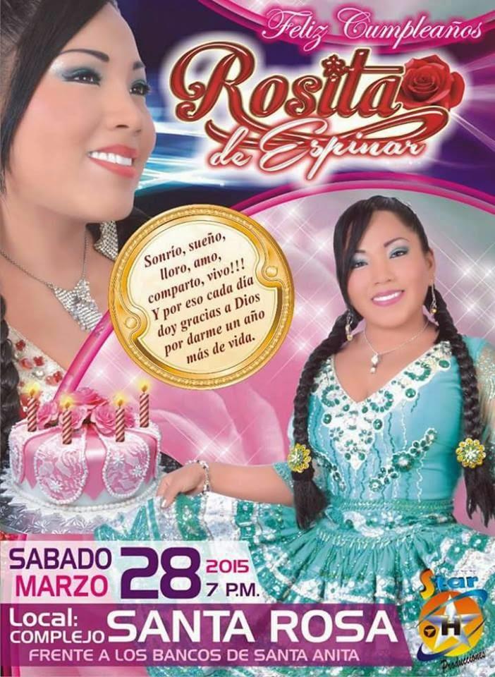 festejemos el cumpleaños de Rosita de Espinar