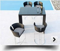 wicker bar set, outdoor bar chair