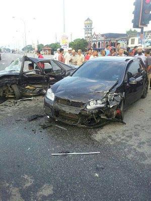 [GAMBAR] Ustaz Azhar Idrus Kemalangan Kereta