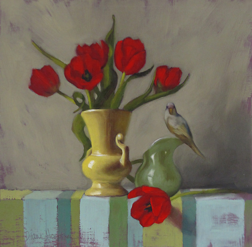 small flower paintings diane hoeptner shape of things floral still life with small bird