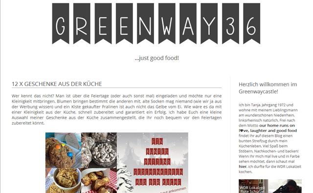 Greenway 36: Geschenkideen aus der Küche