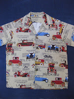 画像①                50's 「HOTROD CARS」                総柄 COTTON                SHORT SLEEVE SHIRTS