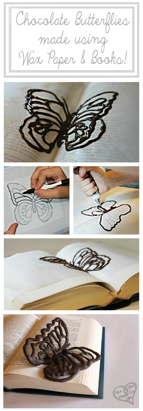 How To Make Chocolate Designs On Wax Paper