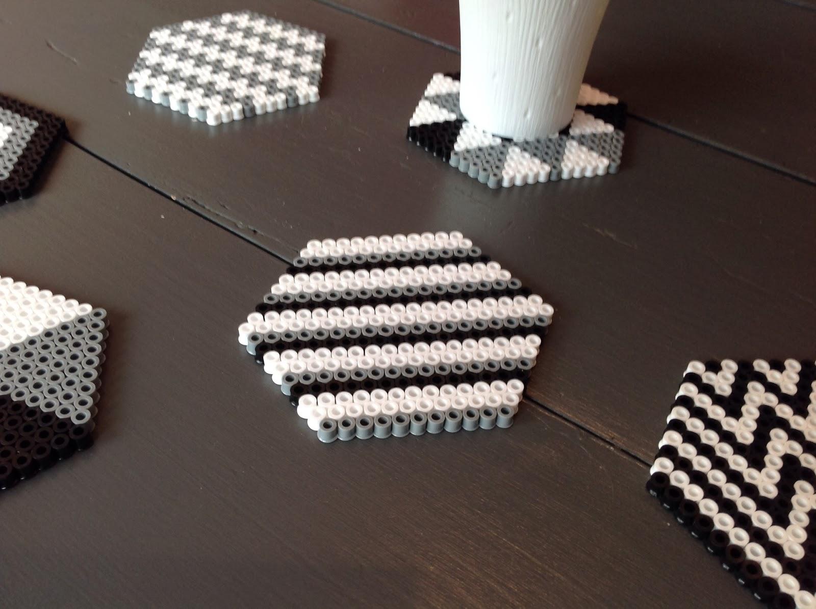 Dessous de verres diy perles hama parenth se cr ative - Fabriquer dessous de verre ...