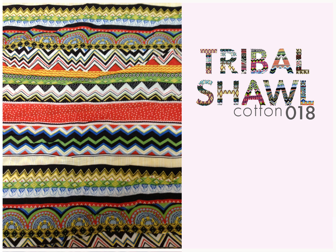 TRIBAL SHAWL COTTON