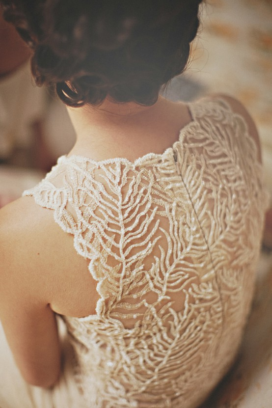 Lace Back Wedding Gowns I have just fallen in love with the lace backs of