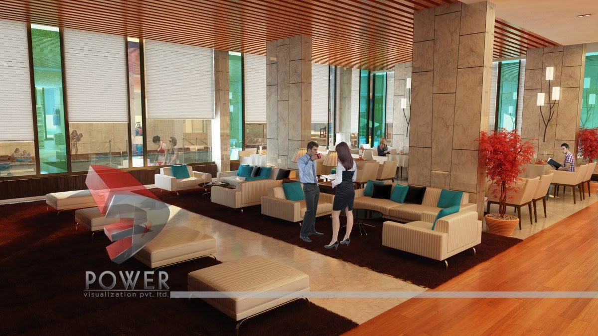 lobby interior design - 3d Interior Designs