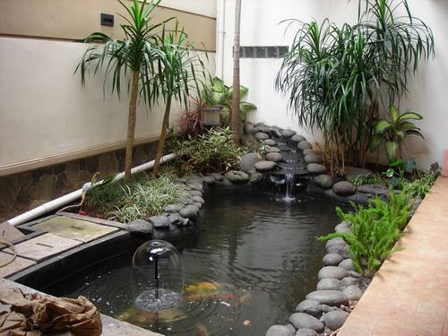 Waterfall Taman Rumah Minimalis