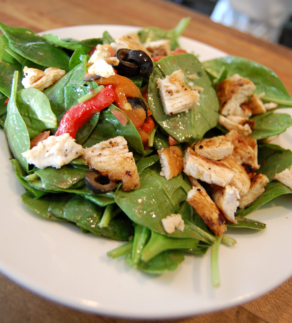 ... on a delicious and healthy salad like our chicken balsamic salad this