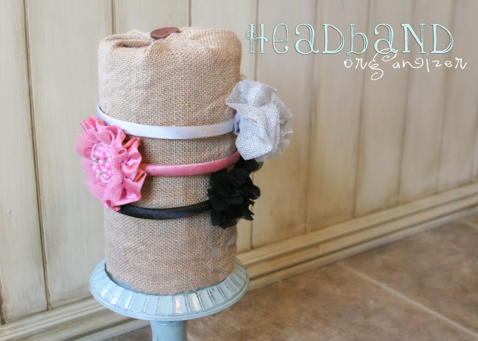 how to make a headband organizer