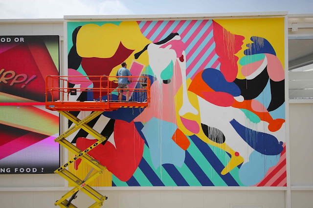 While we last heard from him in Palm Springs for Coachella 2015, Maser recently stopped by the city of Milan in Italy where he was invited to work on his largest outdoor pieces to date.