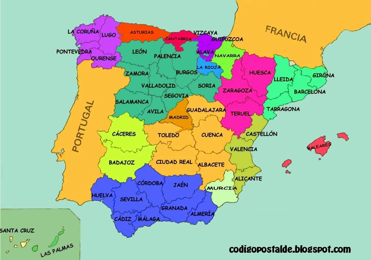 Codigo postal de espa a como llamar a espa a llamadas for Codigo postal del barrio de salamanca en madrid