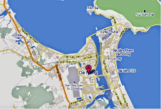 Danang Tourist Map, Vietnam