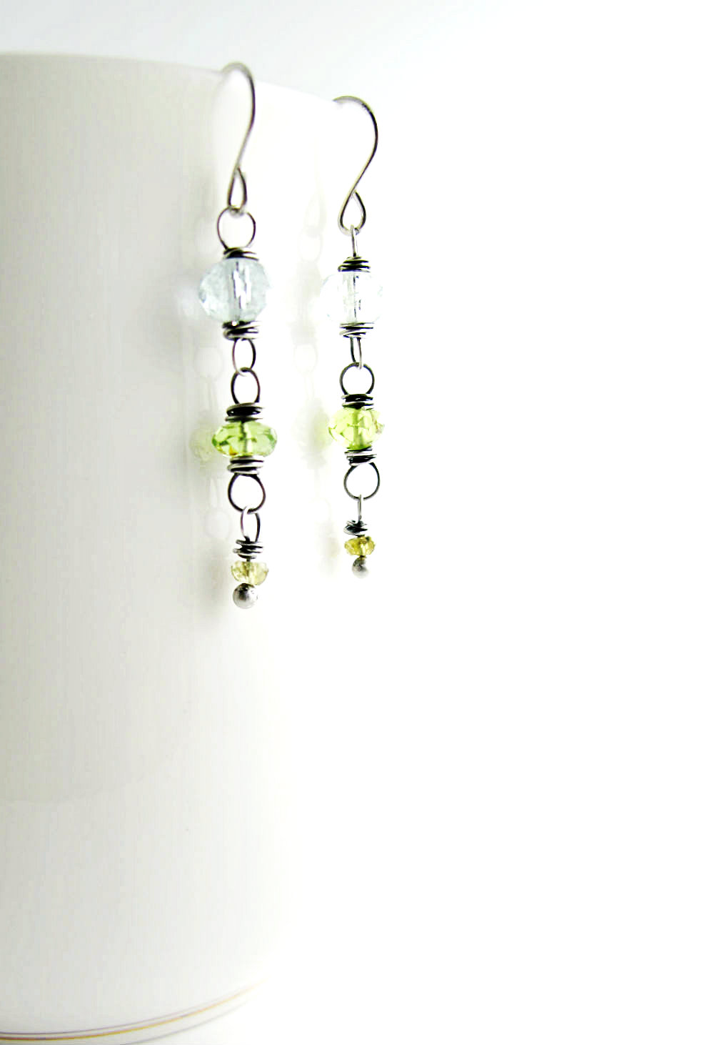 Sundays at Lake Tahoe Earrings by Beth Hemmila of Hint Jewelry