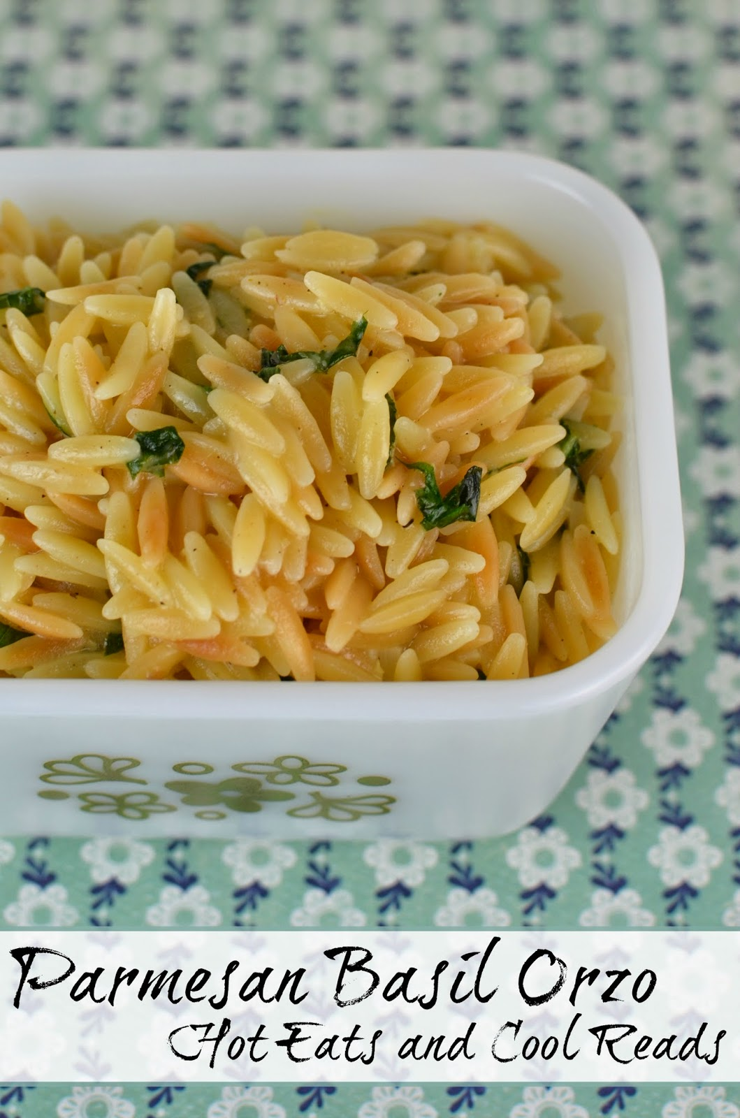 Easy side for any meal! Tons of flavor and so delicious! The kids love it too! Parmesan Basil Orzo from Hot Eats and Cool Reads