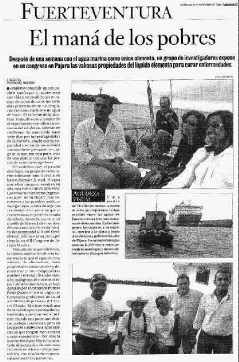 Recorte de la prensa que se hizo eco del evento en aquel año 2004