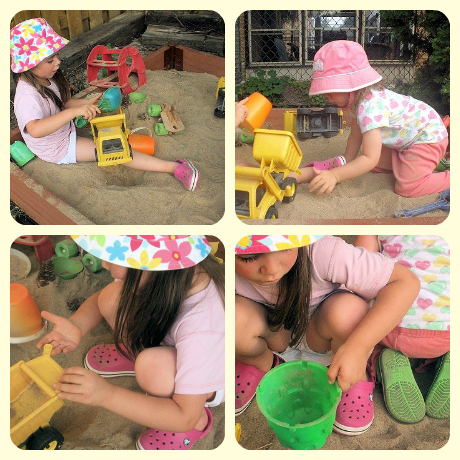 Summertime sandbox play.