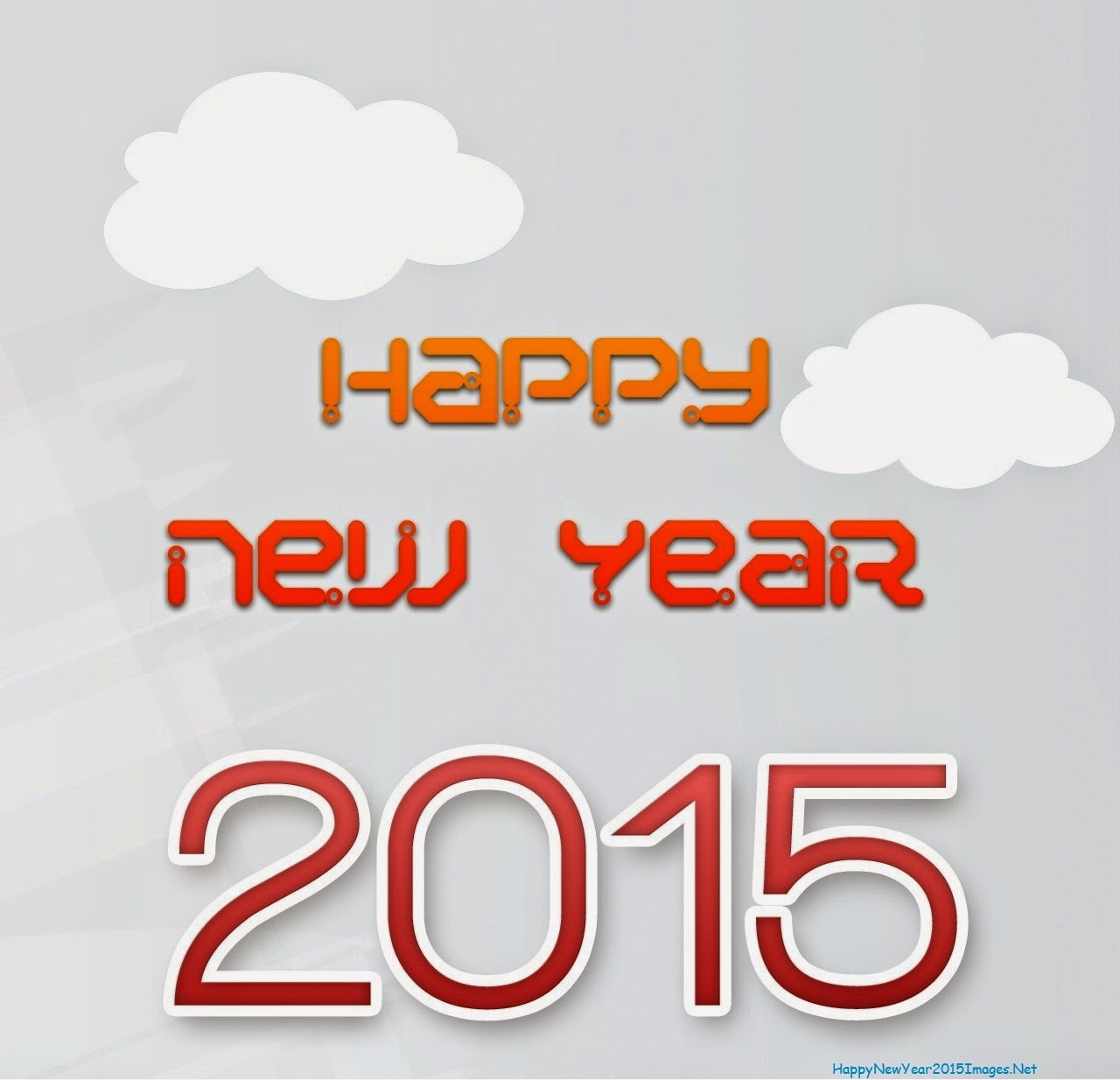 Happy New Year 2015 With Clouds