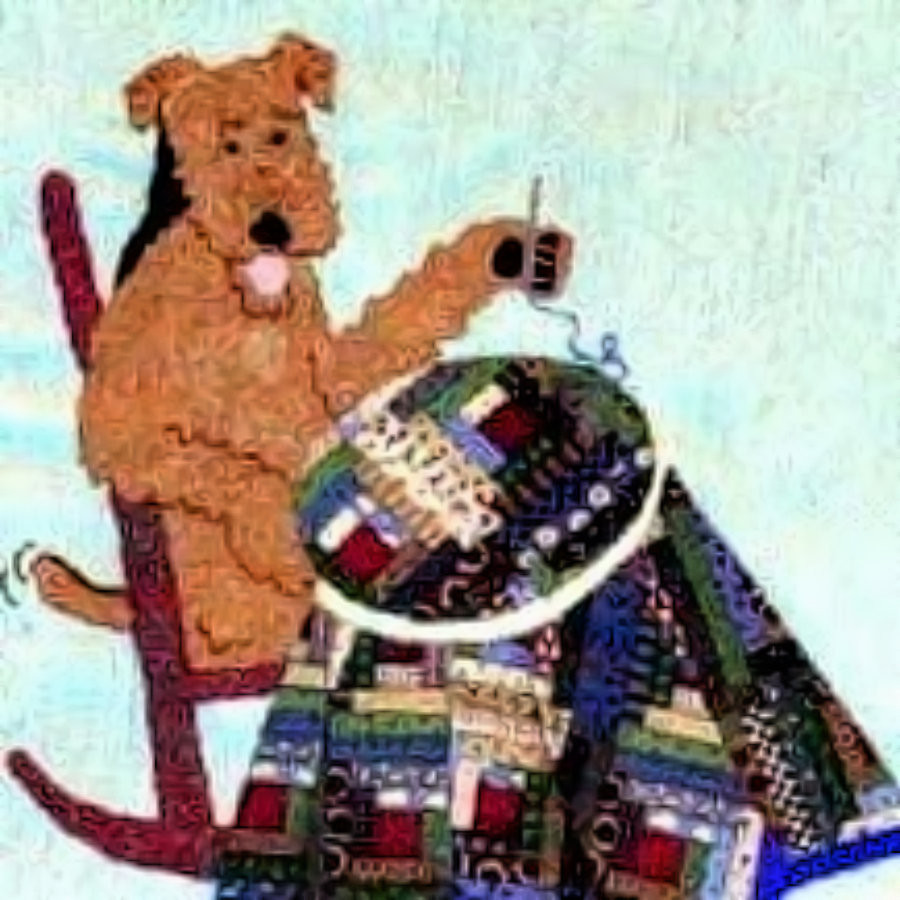 Proud Member of Airedale Rescue Quilting Bee