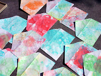 bubble tie-dyed paper