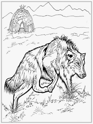 Free Adult Coloring Pages Wolf