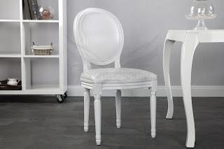 luxusna stolicka biela, dizajnova stolicky, biele stolicky do kuchyne, kuchynske stolicky