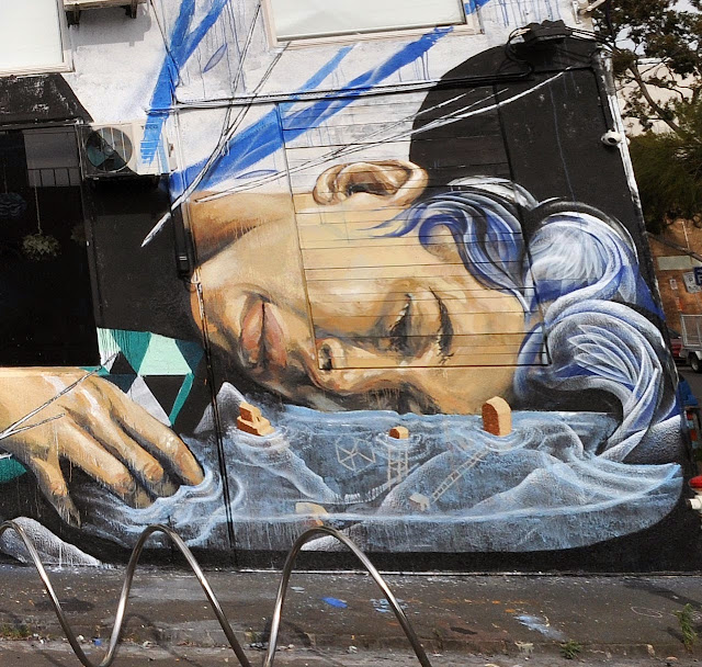 Street Art Collaboration by Shida, Two one, Eno, Taylurk in East Brunswick Melbourne. 3