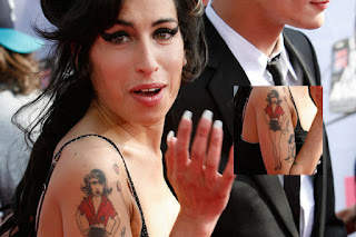 Celebrity Amy Winehouse Tattoo Design