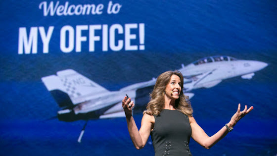 Carey Lohrenz, the first female F-14 Tomcat pilot for the U.S. Navy