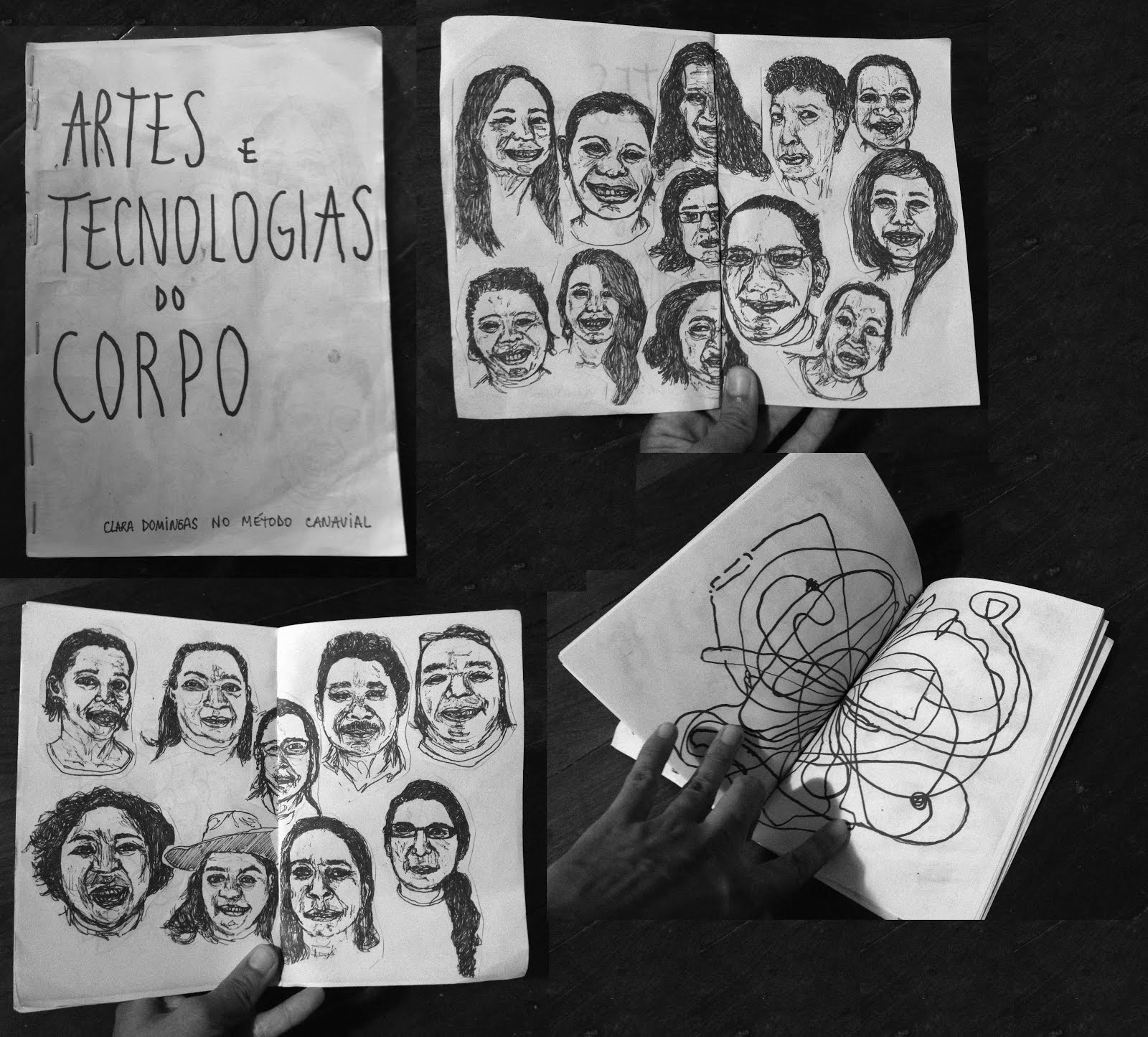 """Fanzine """"Artes e Tecnologias do Corpo"""" resultado do encontro com alunas do Método Canavial, 2015"""