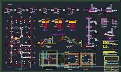 Expediente técnico de una vivienda unifamiliar - Plano estructural