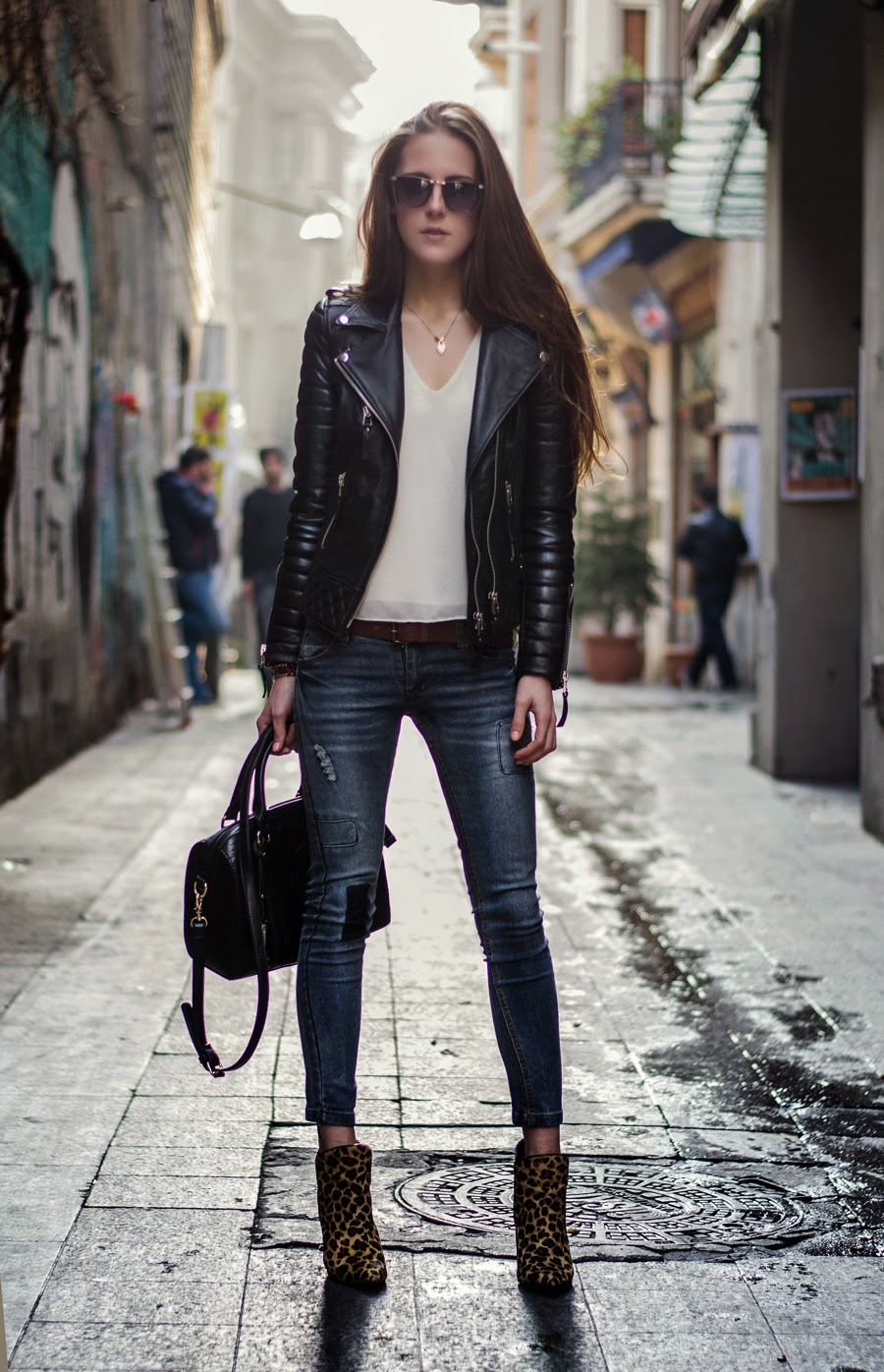 Leather Jacket Fashion Blog Nice Fashion