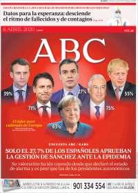 06/04/2020   ESPAÑA UNA  PRIMERA PÁGINA DE LA PRENSA
